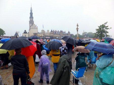 Meeting, vigil, prayer, worship in the pouring rain