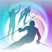Winter sports festive concept vector illustration