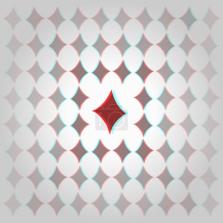Clubs 3d geometric background