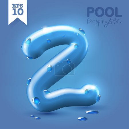 Wet blue glossy  font - 2