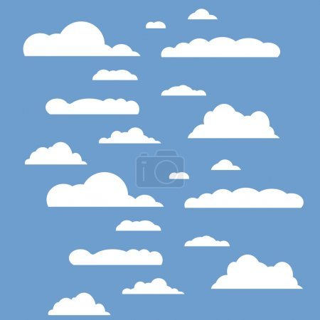 Vector illustration of clouds