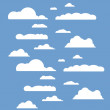 Vector illustration of clouds collection...