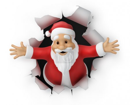Photo for Santa Claus, 3d illustration, work path included - Royalty Free Image