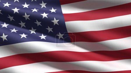 Photo pour Fond de drapeau ondulant usa, rendu 3d - image libre de droit