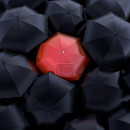 Photo for The red umbrella, beautiful background - Royalty Free Image