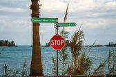 Road sign bermuda