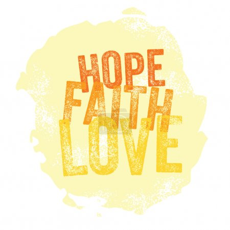 Vintage Christian design Hope, Faith, Love