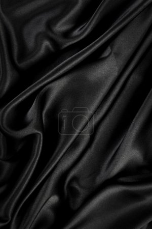 Black silk velvet cloth background