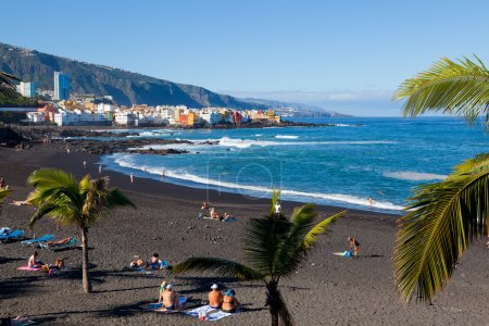 Photo for Playa Jardin in Puerto de la Cruz, Tenerife, Spain - Royalty Free Image