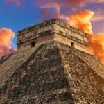 Kukulkan Pyramid in Chichen Itza Site, Mexico...