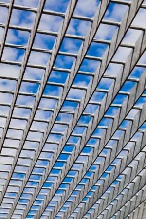 Photo for Abstract Metal Structure with a Blue Sky - Royalty Free Image
