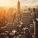 Sunset in Manhattan, New York, USA