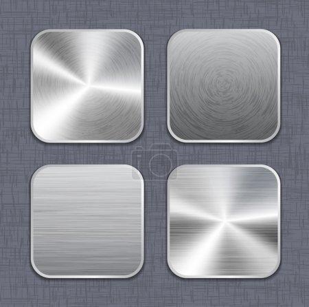 Brushed metal app icône modèles 2