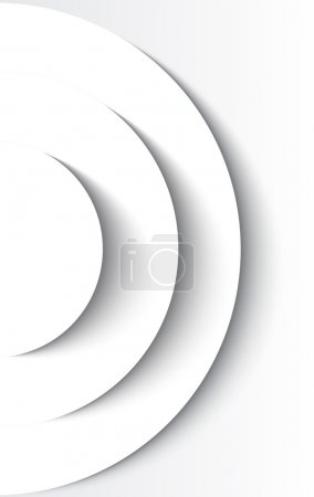 White abstract circles