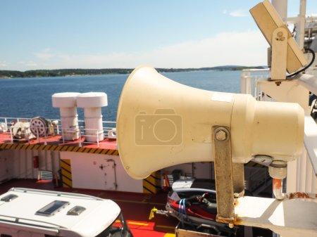 Speaker on ferry