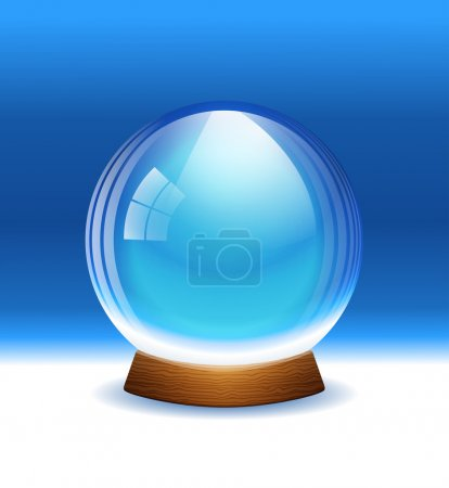 Vector empty transparent snow globe