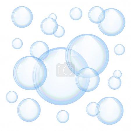 Vector soap bubbles