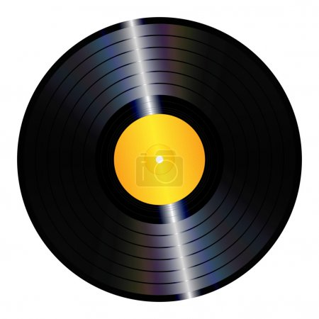 An illustration of an isolated lp vinyl record....