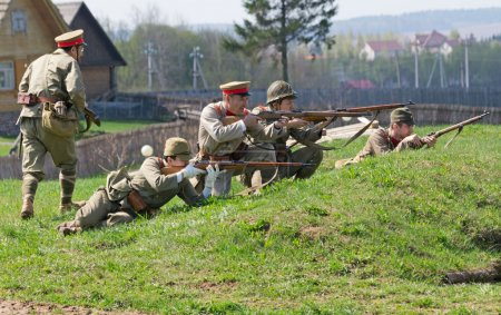 Soldiers defend position