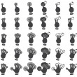 Vector set of multitouch gestures...