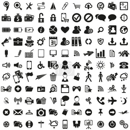 Illustration for Universal web icons set . Vector illustration - Royalty Free Image