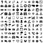 Universal web icons set . Vector illustration...