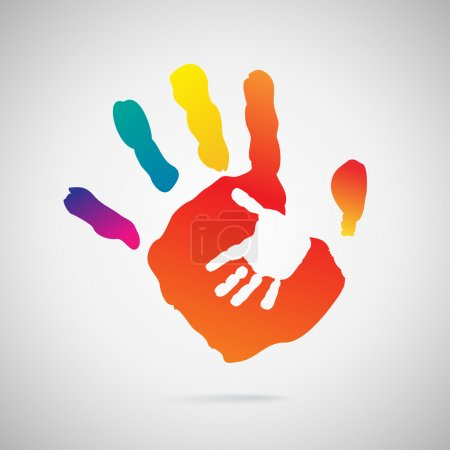 Illustration for Hand Print icon, vector illustration - Royalty Free Image