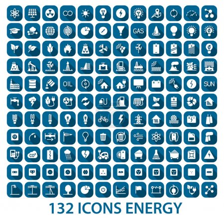 Illustration for Energy and resource icon set. Vector illustration - Royalty Free Image