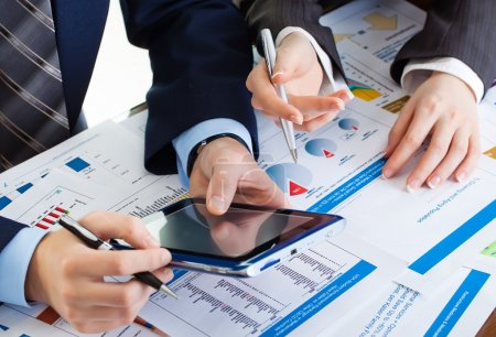 businessman Hands with digital tablet pc