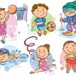 Sports kids. Contains transparent objects. EPS10...