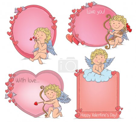 Illustration for Vignettes Valentines Day. Contains transparent objects. EPS10 - Royalty Free Image