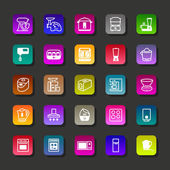 Kitchen aplliance vector icons