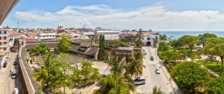 Panoramic view to the Old fort at Stone Town, Zanzibar, Tanzania