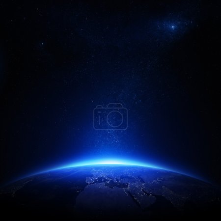 Photo pour Earth at night with city lights, Elements of this image furnished by NASA - image libre de droit
