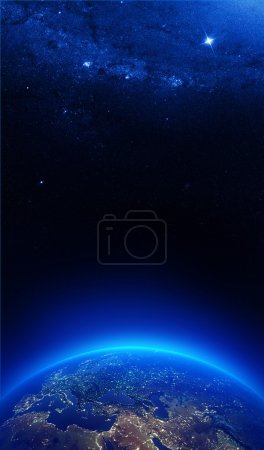Photo for Earth at night with city lights - Europe ((Elements of this image furnished by NASA) - Royalty Free Image