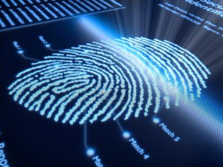 Fingerprint on pixellated screen