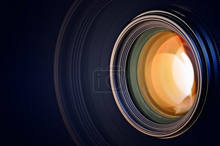 Photo for Camera lens background - Royalty Free Image