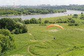 Paragliding over Kolomenskoye .