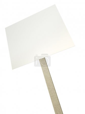 Photo for Blank protest banner. 3D render. - Royalty Free Image