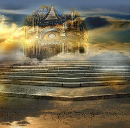 Foto de El caballero del castillo aéreo - Imagen libre de derechos