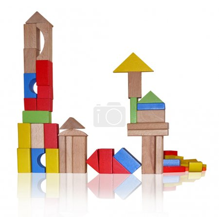 Photo for Wooden blocks for play - Royalty Free Image