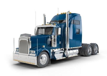 Dark blue american truck