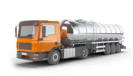 Orange Fuel Tanker Truck