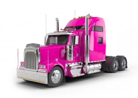 Pink american truck
