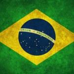 Illustration of a worn Brazilian flag