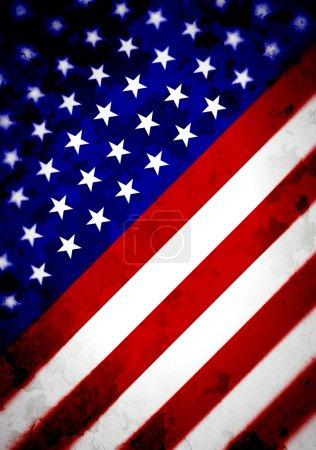 Abstract Angled US Flag