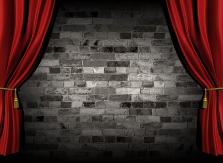 Curtains and wall