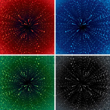 Abstract Backgrounds with Zoom Effect