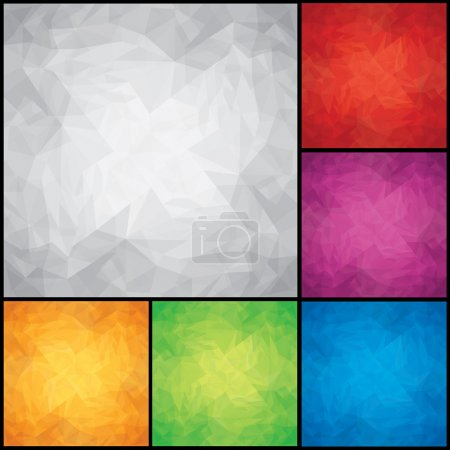 Set of Colored Paper Backgrounds