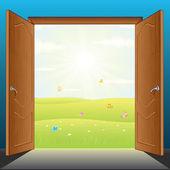 Doors to Nature Vector